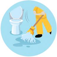 Reinigung öffentlicher Einrichtungen