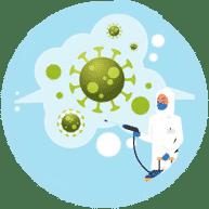 Desinfektionsspray und Ozon