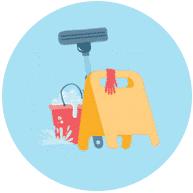 Esstisch reinigen